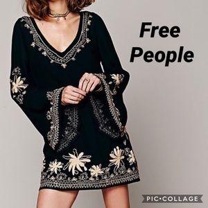 Free People Embroidered Mini Dress